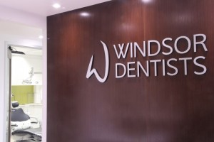 Windsor Dentists Reception Sign