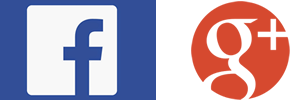 Facebook and Google Plus Logo