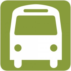 bus stop green logo