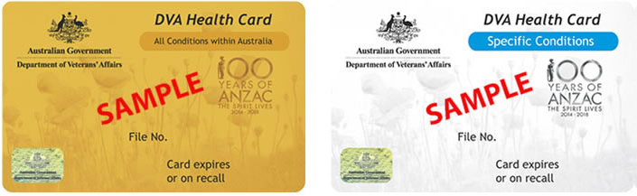 dva gold and white card