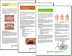 Dental Information Sheet Thumbnail